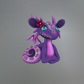 Purple Flower Dragon Mesh Tip Jar
