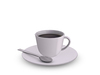 Dutchie mesh coffee cup and caucer with spoon