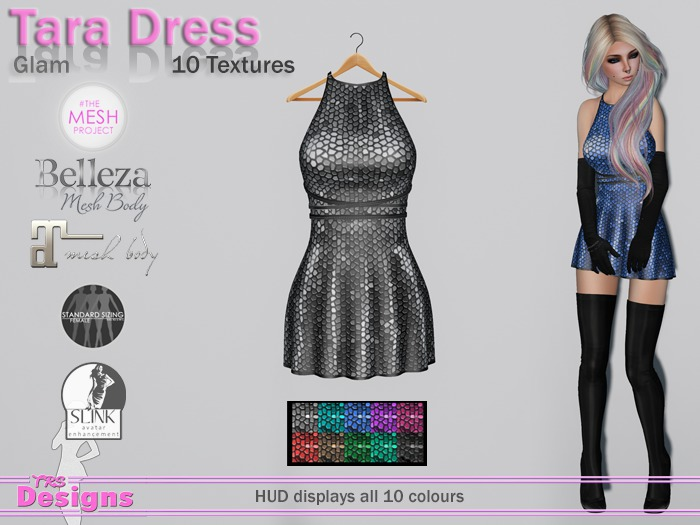 Tara Dress With Hud Glam
