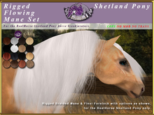 *E* RealHorse Flowing Mane Set [BOXED] RH Shetland