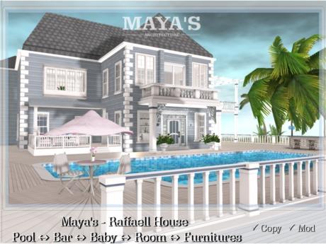 Maya's - Raffaell House - Pool, Bar, Baby Room, Furnitures