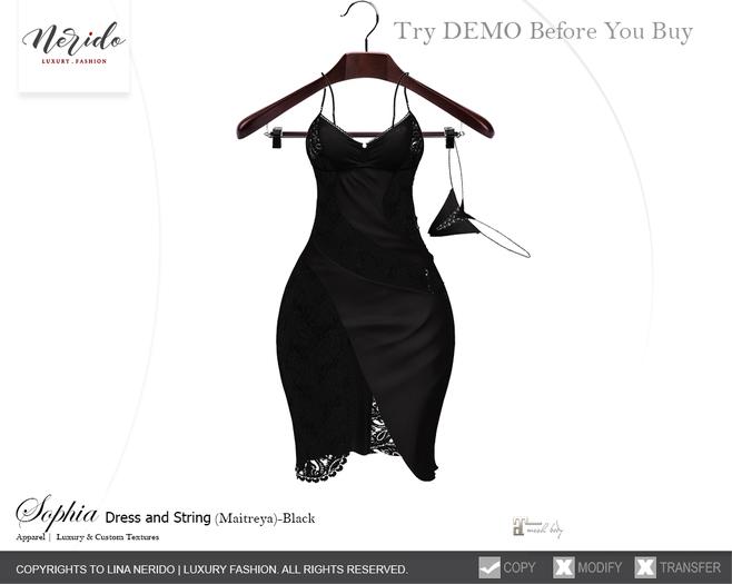 ~Nerido~ Sophia Dress/String (Maitreya)-Black