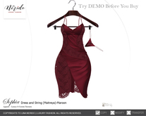 ~Nerido~ Sophia Dress/String (Maitreya)-Maroon