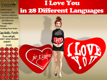 [SuXue Mesh] FATPACK Heart Luna 28 Language with Hud Love and I Love You Holding Pose Resize