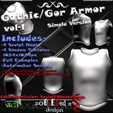 Sculpted Gothic/Gor Armor with AUTOMAKER by =oBCEDed=design [Promo]