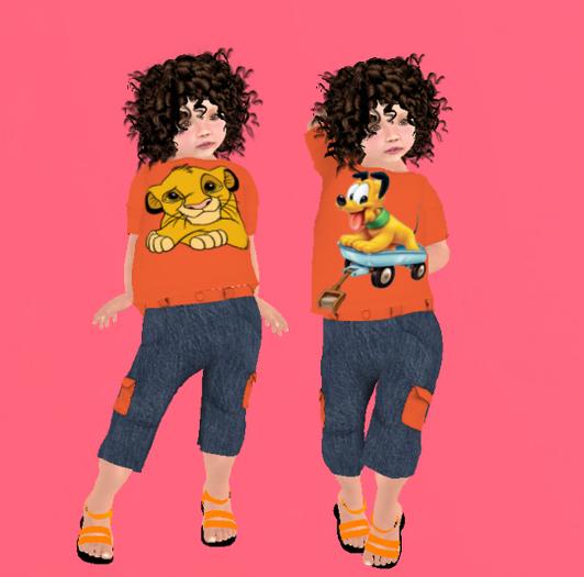 Lexxie ToddleeDoo Kid Pluto Simba Orange