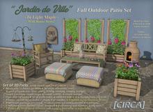 "[CIRCA] Pkg - ""Jardin de Ville"" - Full Outdoor Patio Set"