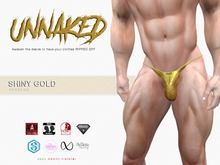 :: UNNAKED :: SPEEDO :: Shiny Gold