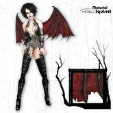Nemesis Wings in Red - Demon Flexi Scripted Wings