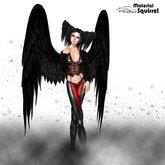 Ezazel Black Angel Wings - Flexi and Scripted Dark Angel Wings