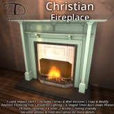 Christian Fireplace - 1 LI + Corner & Flat + Natural Burning Fire + Texture Change