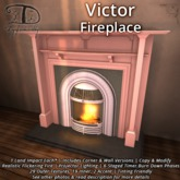Victor Fireplace - 1 LI + Corner & Flat + Natural Burning Fire + Texture Change
