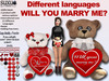 [SuXue Mesh] Will You Marry Me Teddy Bear Paride Heart Different Language HUD Holding Animation Resize
