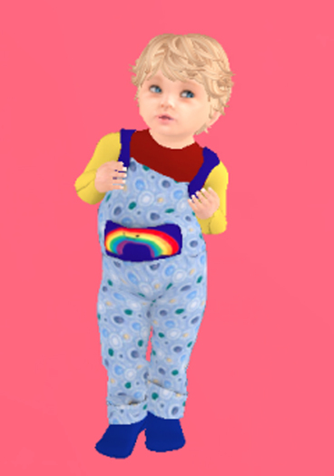Lexxie Totsipop Rainbow Overalls BABY