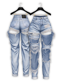 .:villena:. - Destroyed Mom Jeans - Light Blue