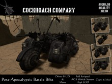[COCKROACH] Post-Apocalyptic Battle Bike (K-Damage) - Mesh