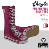 [OMK] Shayla PauPau Pink Star High Top Sneakers (B/M/S)