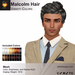 A&A Malcolm Hair Variety Colors Pack V2. Mens mesh hair