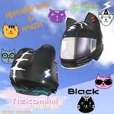 719 Racing - Nekomimi Helmet [Black]
