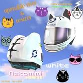 719 Racing - Nekomimi Helmet [White]