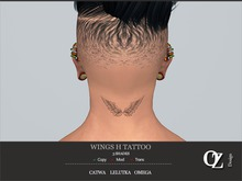 Oz Design : Wings H Tattoo