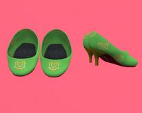 Lexxie Dinkies Green Stilettos