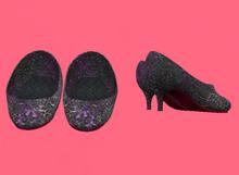 Lexxie Dinkies Metallic Black Stilettos