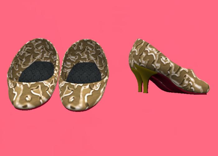 Lexxie Dinkies Gold Stilettos