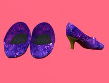 Lexxie Dinkies Purple Stilettos