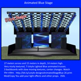 Ustyle Designs Animated Blue Concert Stage