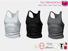 Full Perm Slim Vest Tank Top For TMP, Belleza jake, Slink Physique Male, Signature Gianni