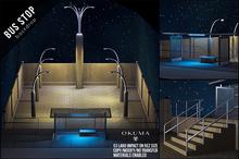 OKUMA - BUS STOP - backdrop / night