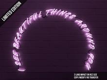 OKUMA - I see...  - neon text / rose