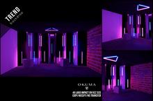 OKUMA - Trend - backdrop / blue/rose