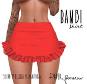 Paper.Sparrow - Bambi Skirt - Red