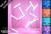 OKUMA - NEON LIGHTS - backdrop FULLPACK