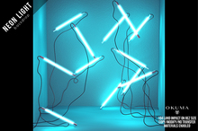 OKUMA - NEON LIGHTS - backdrop / mint