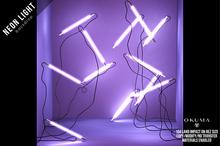 OKUMA - NEON LIGHTS - backdrop / lilac