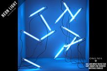 OKUMA - NEON LIGHTS - backdrop / blue