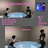 Play Jacks Table & chair Set-crate