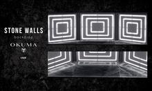 OKUMA - STONE WALLS  - backdrop / black/white