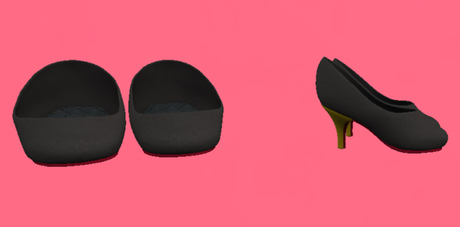 Lexxie Dinkies stilettos Solid Black, gold