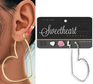 e.marie // Sweetheart Earring Set - Sterling