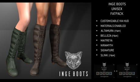 Feral - Inge Boots - FatPack