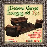 !! MOONSTRUCK !! Medieval Carved Lounging Set RED