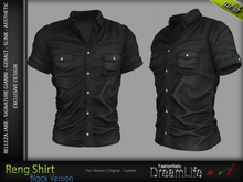 FashionNatic - RENG SHIRT BLACK SINGLE COLOR
