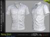 RENG Male Shirt WHITE COLOR - MESH - Slink, Signature Gianni + Geralt, Aesthetic, Belleza Jake - FashionNatic