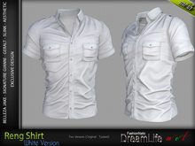 RENG Male Shirt WHITE COLOR - MESH - Slink, Signature Gianni + Geralt, Aesthetic, Belleza Jake - FashionNatic