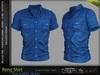 RENG Male Shirt BLUE SAPHIRE COLOR - MESH - Slink, Signature Gianni + Geralt, Aesthetic, Belleza Jake - FashionNatic
