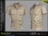RENG Male Shirt BEIGE COLOR - MESH - Slink, Signature Gianni + Geralt, Aesthetic, Belleza Jake - FashionNatic